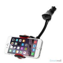 Smart bilholder m/ladestik til Samsung/HTC/Huawei – 35-95mm bred