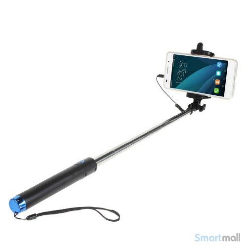 Smart selfie stick med mount holder & minijack til iPhone 6/6S/6 PLUS – Blå