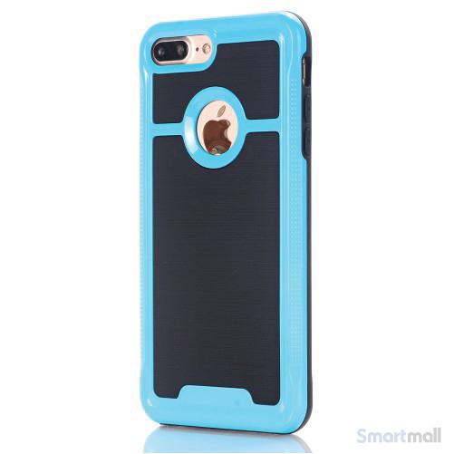 Apple iPhone 7 Plus TPU/Armor cover i frisk farve - Baby blå