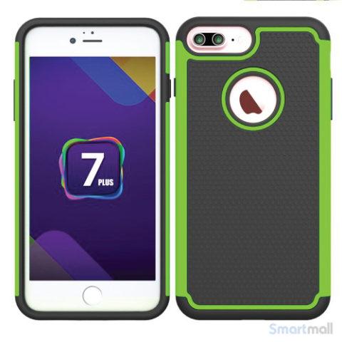 Apple iPhone 7 Plus silikone + hybrid cover - Grøn