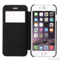 Apple iPhone 7 cover i lækkert læder-design m/vindue til display - Sort2