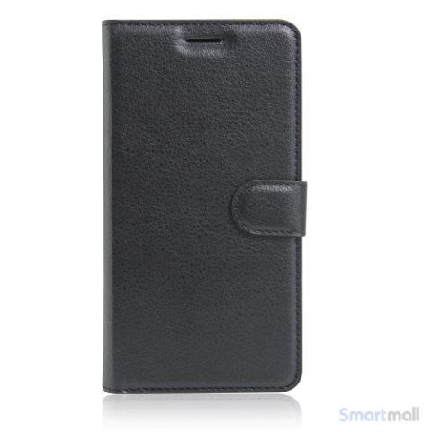 Apple iPhone 7 læderpung i klassisk design m/kortholder - Sort