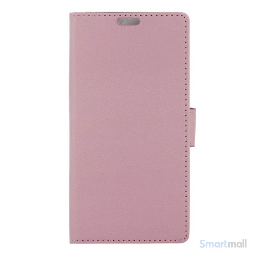 Apple iPhone 7 læderpungs-cover m/kortholder & standfunktion - Pink