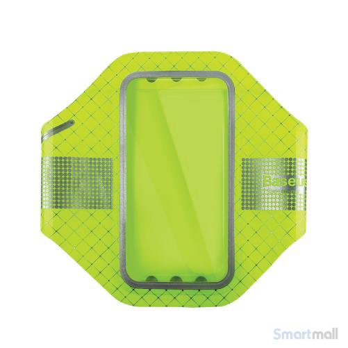 BASEUS løbearmbånd m/refleks til iPhone 7 Plus/6S Plus/Samsung S7 - Grøn