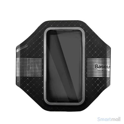 BASEUS ultra tyndt løbearmbånd m/refleks til iPhone 7-6S-6 - Sort
