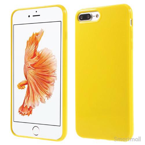 Blankt TPU gel-cover til Apple iPhone 7 Plus - Gul