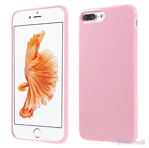 Blankt TPU gel-cover til Apple iPhone 7 Plus - Pink