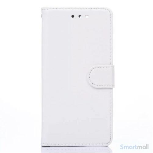 Crazy Horse læder-case med kortholder til iPhone 7 Plus - Hvid