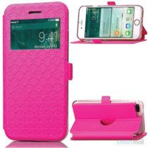Diamond Lozenge flipcover m/vindue-touch & kortholder til iPhone 7 Plus - Rose7