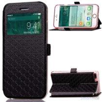 Diamond Lozenge flipcover m/vindue-touch & kortholder til iPhone 7 Plus - Sort