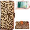 Feminint leopard-mønstret cover i læder til iPhone 7 Plus - Brun