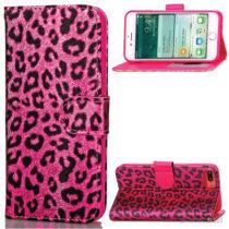 Feminint leopard-mønstret cover i læder til iPhone 7 Plus - Rose