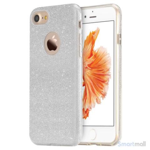 Flot & eksklusivt TPU cover fra USAMS til iPhone 7 Plus - Sølv