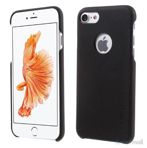 G-Case lædercover udført i tyndt design til iPhone 7 - Sort