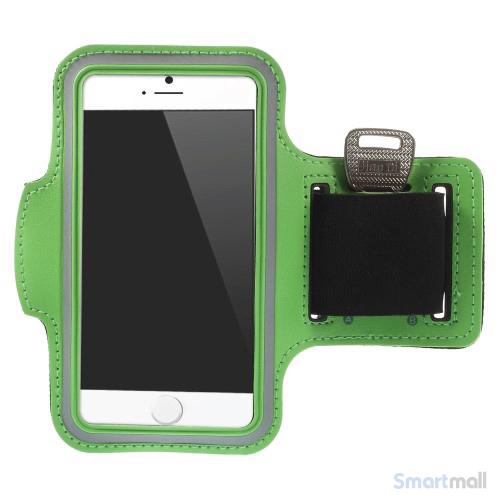 GYM sportsarmbånd m/nøgleholder til iPhone 7/6S/6 - Grøn