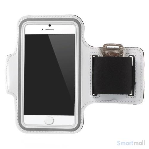 GYM sportsarmbånd m/nøgleholder til iPhone 7/6S/6 - Hvid