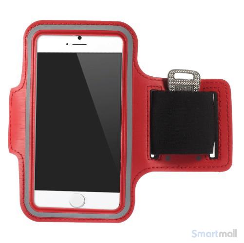 GYM sportsarmbånd m/nøgleholder til iPhone 7/6S/6 - Rød