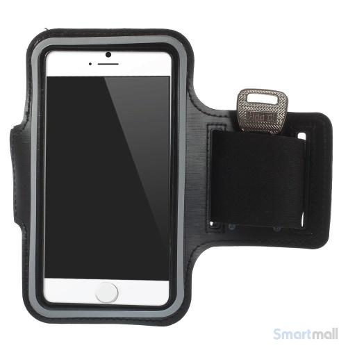 GYM sportsarmbånd m-nøgleholder til iPhone 7-6S-6 - Sort