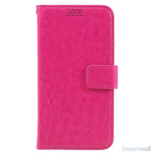 Klassisk flot læderpung m/standfunktion & kortholder til iPhone 7 - Rose