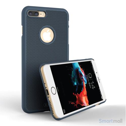 LOOPEE Woven hardcase cover til iPhone 7 Plus i lækkert design - Blå