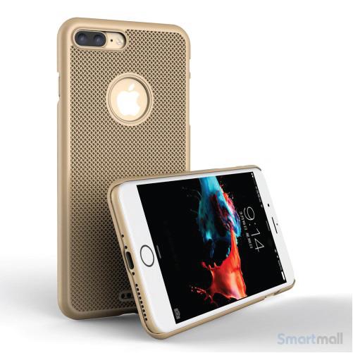 LOOPEE Woven hardcase cover til iPhone 7 Plus i lækkert design - Guld