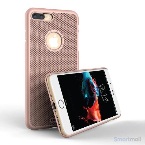 LOOPEE Woven hardcase cover til iPhone 7 Plus i lækkert design - Rose Guld