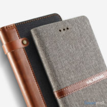 Lækker kvalitets-læderpung fra KLD Funwear m/kortholder til iPhone 7 - Blå2