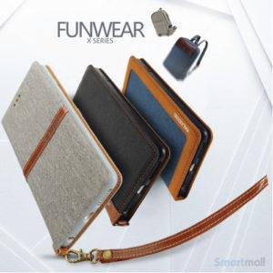 Lækker kvalitets-læderpung fra KLD Funwear m/kortholder til iPhone 7 - Sort