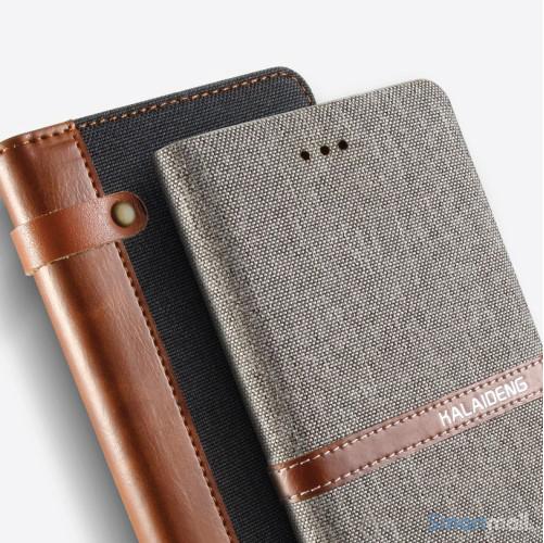 Lækker kvalitets-læderpung fra KLD Funwear m/kortholder til iPhone 7 - Sort2