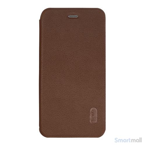 Lækkert lædercover fra LENUO til Apple iPhone 7 - Brun