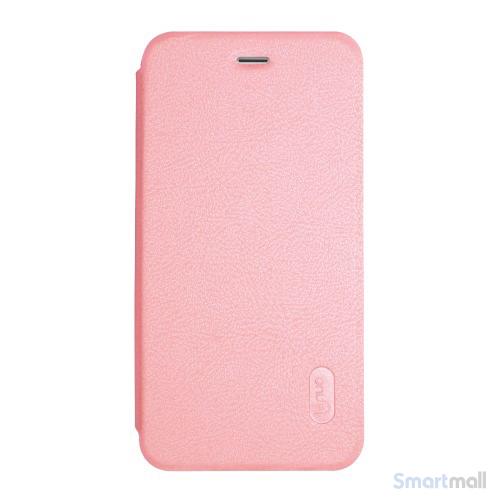 Lækkert lædercover fra LENUO til Apple iPhone 7 - Pink