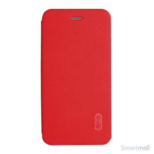Lækkert lædercover fra LENUO til Apple iPhone 7 - Rød