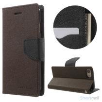 MERCURY GOOSPERY Fancy Diary læderpung m/standfunktion til iPhone 7 - Brun