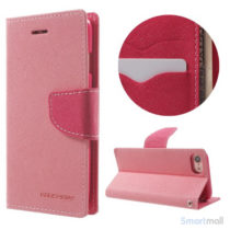 MERCURY GOOSPERY Fancy Diary læderpung m/standfunktion til iPhone 7 - Pink