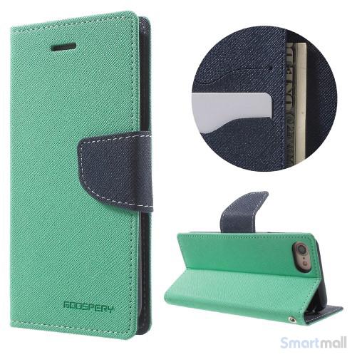 MERCURY GOOSPERY Fancy Diary læderpung m/standfunktion til iPhone 7 - Grøn