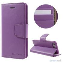 MERCURY GOOSPERY Sonata Diary læderpungs-cover til iPhone 7 - Lilla