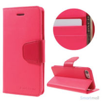 MERCURY GOOSPERY Sonata Diary læderpungs-cover til iPhone 7 - Rose