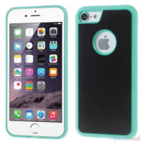 MYFONLO Magic Stick cover m/selvklæbende funktion til iPhone 7 - Cyan