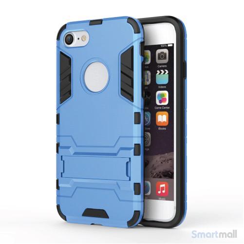 Robust TPU Hybrid cover m/støtte-fod til Apple iPhone 7 - Baby Blå