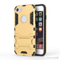 Robust TPU Hybrid cover m/støtte-fod til iPhone 7 - Guld