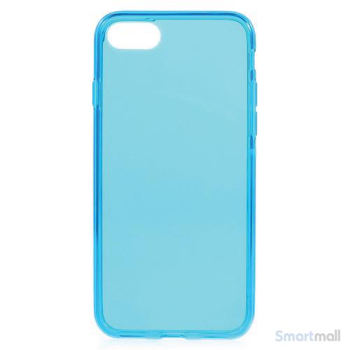 Semitransparent TPU gel-cover til Apple iPhone 7 - Blå