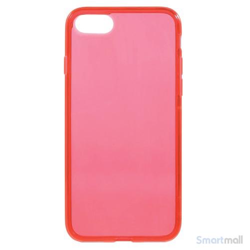 Semitransparent TPU gel-cover til Apple iPhone 7 - Rød