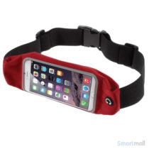 Smart løbebælte/taske m.touch-vindue til iPhone 7 Plus/6S Plus - Rød