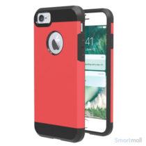 Solidt Hybrid + TPU beskyttelsescover til iPhone 7 - Rød