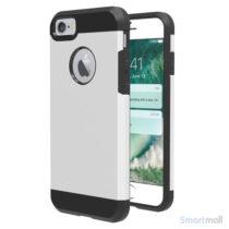 Solidt Hybrid + TPU beskyttelsescover til iPhone 7 - Sølv