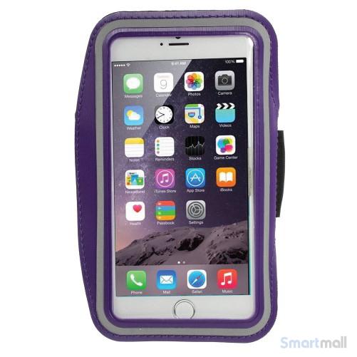 Sports løbearmbånd m.touch vindue til iPhone 7 Plus/6S Plus - Lilla