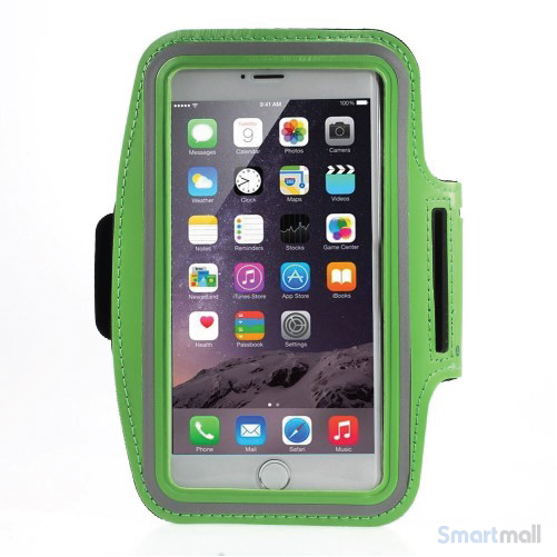 Sports løbearmbånd m.touch vindue til iPhone 7 Plus/6S Plus - Grøn