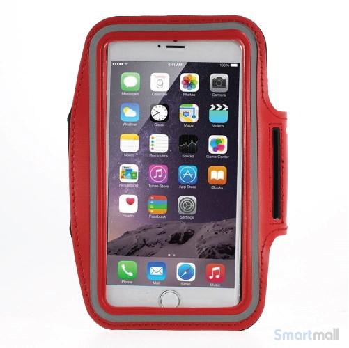 Sports løbearmbånd m.touch vindue til iPhone 7 Plus/6S Plus - Rød