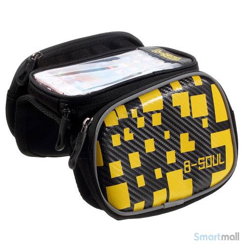 "B-SOUL universal cykeltaske til smartphone m/vindue touch 5.5"" skærm - Gul"
