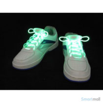 Cool LED snørebånd i skarpe farver - Grøn